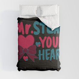 Boys Valentines Day Motive Toddler Gift Mr Steal Your Heart Comforters