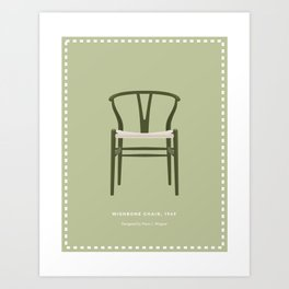 Danish Modern Wishbone Chair Art Print