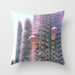 Prickly in Pink II Throw Pillow