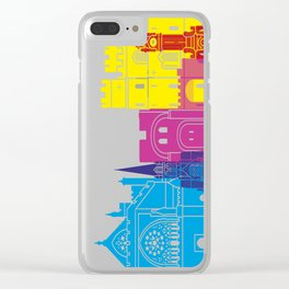 Exeter skyline pop Clear iPhone Case