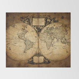 World Map 1752 Throw Blanket