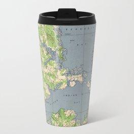 Vintage Rehoboth & Bethany Beach DE Map (1944) Travel Mug