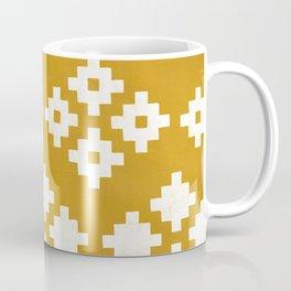 Geometric Pattern | Yellow Background Coffee Mug