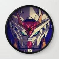 gundam Wall Clocks featuring Gundam Fan ART by Krayvn Arts