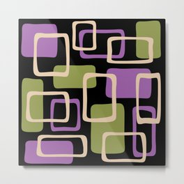 Mid Century Modern Abstract Squares Pattern 432 Metal Print