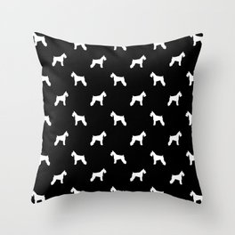 Schnauzer dog silhouette dog pattern dog breed pet art dog lover schnauzers Throw Pillow