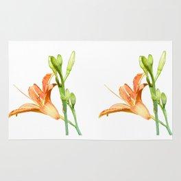 daylily on white Rug
