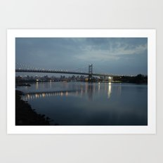 Triborough Bridge at Night. Art Print