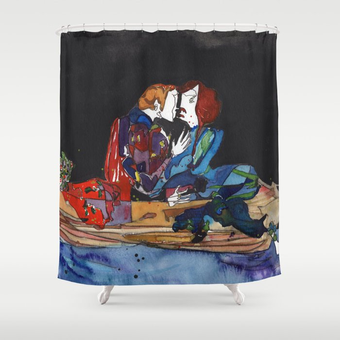 Boat Seduction Shower Curtain By Paintbabies