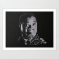 louis armstrong Art Prints featuring Louis Armstrong by Robyn Warren