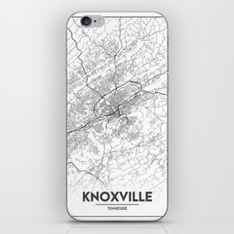 Minimal City Maps - Map Of Knoxville, Tennessee, United States iPhone Skin