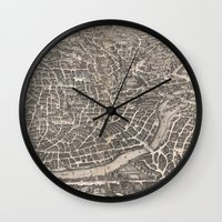 rome Wall Clocks featuring Rome  by Le petit Archiviste