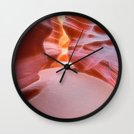 Geology Alive - Following Life Force Lines of Antelope Canyon Wall Clock