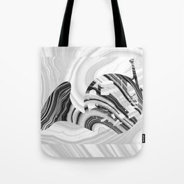 Marbled Music Art - French Horn - Sharon Cummings Tote Bag