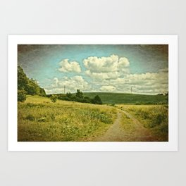 The Farm Road Art Print