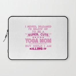 SUPER CUTE A YOGA MOM Laptop Sleeve