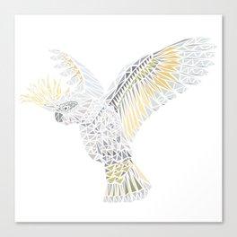 Geometric Cockatoo Canvas Print