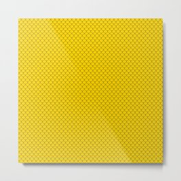 Gold Yellow Scales Pattern Design Metal Print