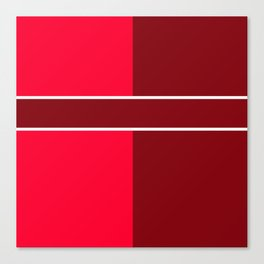 Team Color 6...maroon,red Canvas Print