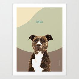 Dog Breeds_Pit bull. Art Print