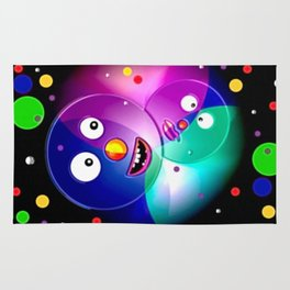 Good mood, colored balls. Rug