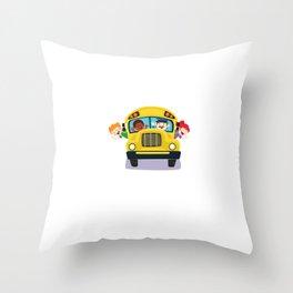 Bus Boss School Bus Driver Monitor T-Shirt Throw Pillow