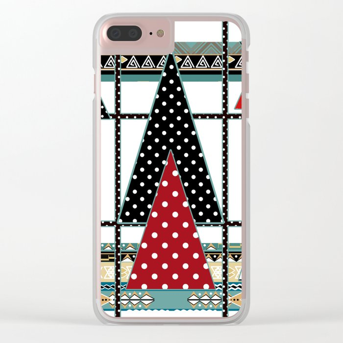 Art. Morning Fantasies . Patchwork Clear iPhone Case