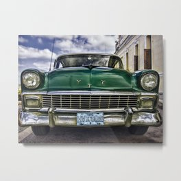 Old green Chevy Metal Print