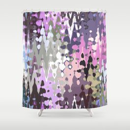 Violet shades icicles, abstract geometric jagged shapes, sharp forms Shower Curtain