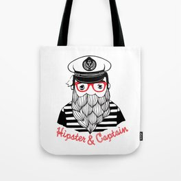 Captain & Hipster Tote Bag