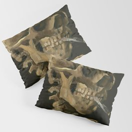 Vincent van Gogh - Skull of a Skeleton with Burning Cigarette Pillow Sham