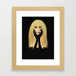 The Girl with the Black Satin Gloves Framed Art Print