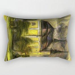 Alps Church Van Gogh Rectangular Pillow