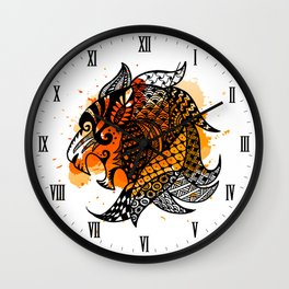 Zodiac Zentangle - Leo Wall Clock