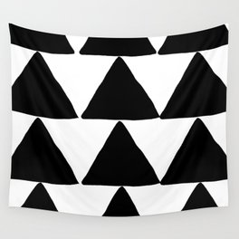 Mountains - Black and White Triangles Wall Tapestry