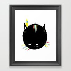 MIGHTY TIGARRR, BLACK KITTEN 묘 Framed Art Print