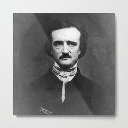 Edgar Allan Poe Portrait Metal Print