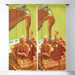 Pour some syrup on me - Breakfast Waffles Blackout Curtain