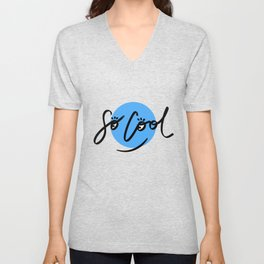 So Cool Guy | Blue Unisex V-Neck
