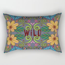 Bohemian Floral Rectangular Pillow
