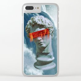 Vaporwave waterfall Clear iPhone Case