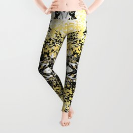 Sukie - abstract gold black and white foil glitter shiny sparkle hipster painting free spirit cosmic Leggings