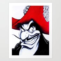 captain hook Art Prints featuring Hook by lapoart