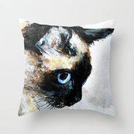 Siamese Cat Throw Pillow