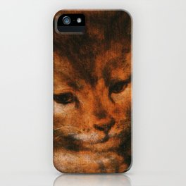 Cat in the art -Sellaer- Jupiter as a Satyr with Antiope and their Twins - detail iPhone Case