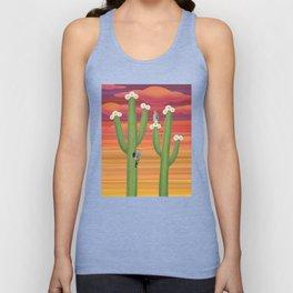gila woodpeckers on saguaro cactus Unisex Tank Top