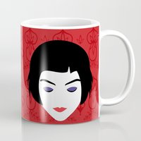 amelie Mugs featuring Amelie by Vivi Nabas