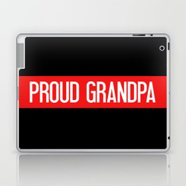 Firefighter: Proud Grandpa (Thin Red Line) Laptop & iPad Skin