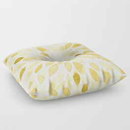Watercolor brush strokes - yellow Floor Pillow