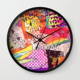UNICORNS & RAINBOWS Wall Clock